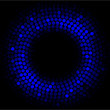 blue lights - vector abstract circle