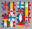Puzzle flag icons 1