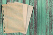 Paper texture - brown paper sheet on wood background