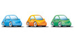 Colorful small cars