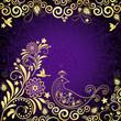Vintage gold-violet frame