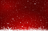 Red Background with snow