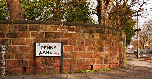 Penny Lane street sign Made famous by the Beatles song