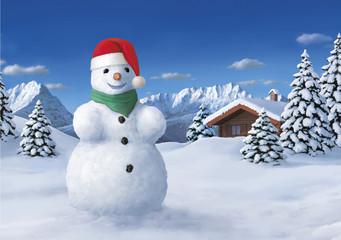 Wehnachts-Schneemann