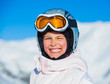 Young girl in a ski wear