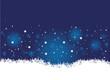Winterlandschaft, blau