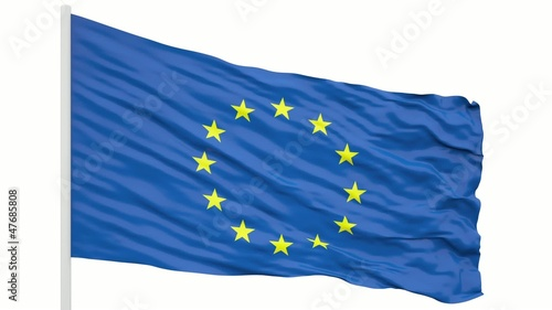 Seamless looping Europe flag
