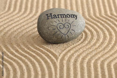 ZEN Garten in Harmonie