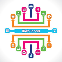Set of Web Icons Stock Vector