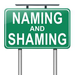 Naming and shaming concept.