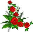 decoration with red rose