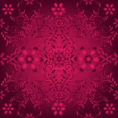 Seamless floral  vinous pattern
