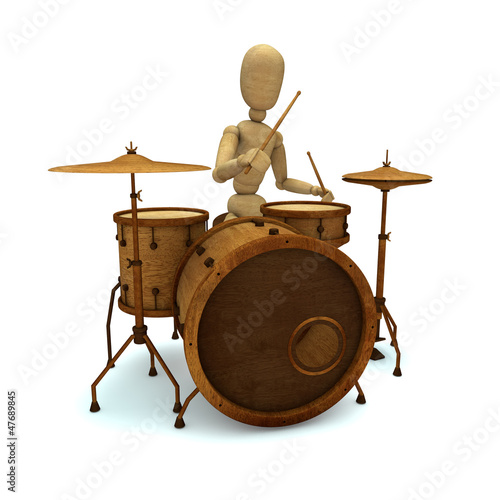 Dummy plays drum