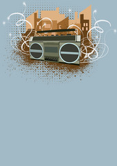 ghetto blaster background