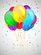 Backgrond with multicolored balloons. Vector illustration.