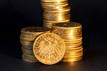 German gold coins.