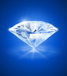 diamond on blue background vector illustration EPS10.