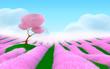 pink fantasy landscape