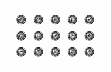 buttons_balckRound