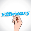 Efficiency word in hand stock vector