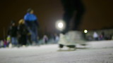HD - People at the ice skating. defocused