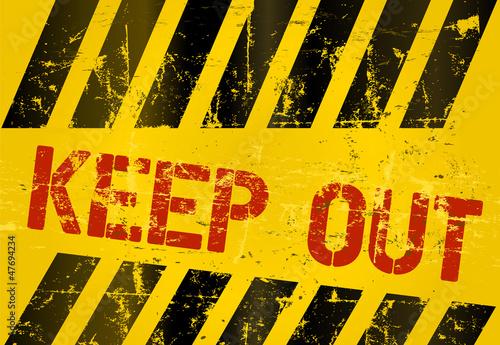 """Danger Sign """"Keep Out"""", vector illustration"""