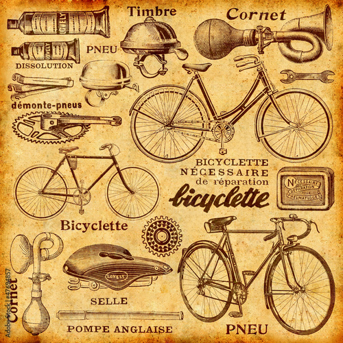 Leinwandbild Motiv Réparation de vélo