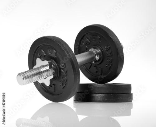 Hantel mit Gewichten