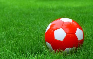 soccer football and green grass