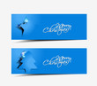 christmas header, banner, eps10 vector illustration