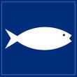 Schild blau - Aquarium