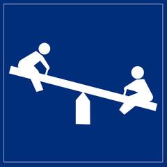 Schild blau - Spielplatz