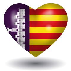 Herz mit Schatten - Mallorca