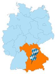 Karte Deutschland - Bayern