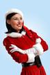 Attracive girl in santa clothes