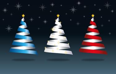 Sapins de Noël fond gris-2