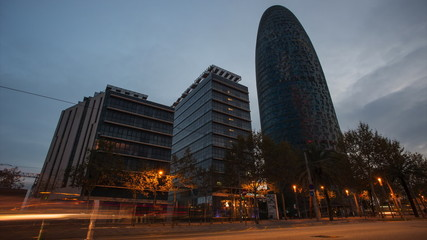 BARCELONA - NOVEMBER 26: Torre Agbar office building, Spain