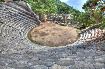 Ancient Amphitheater Of Arykanda, HDR photography