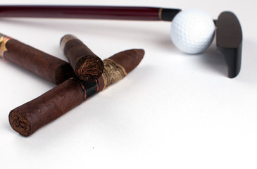 Luxury cigars and golf equipment