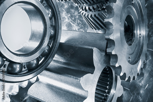 power gears in titanium and steel, slight HDR effect