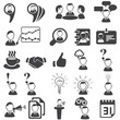 Set of business icons - silhouette