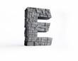 Stone Letter E in 3D