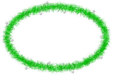 green tinsel frame