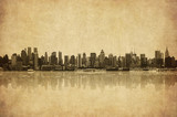 Fototapety grunge image of new york skyline