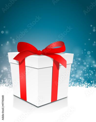 Schnee Geschenk