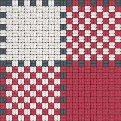 Nappe à carreaux normands rouge et blanc : module de base