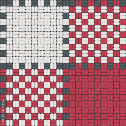 Nappe Carreaux Normands Rouge Et Blanc Module De Base