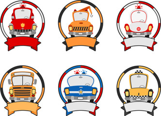cartoon vehicle banners