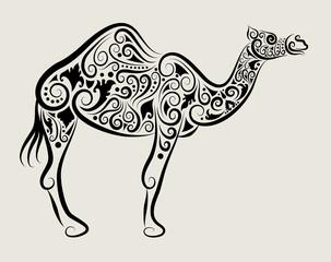 Camel Ornament Vector