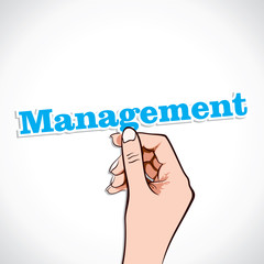 Management word in hand stock vector